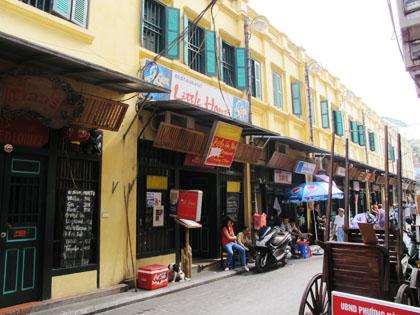 Khu phố Tạ Hiện tái hiện lại không gian sống của người Hà Nội trong thời kỳ Pháp thuộc những năm 1930-1945.